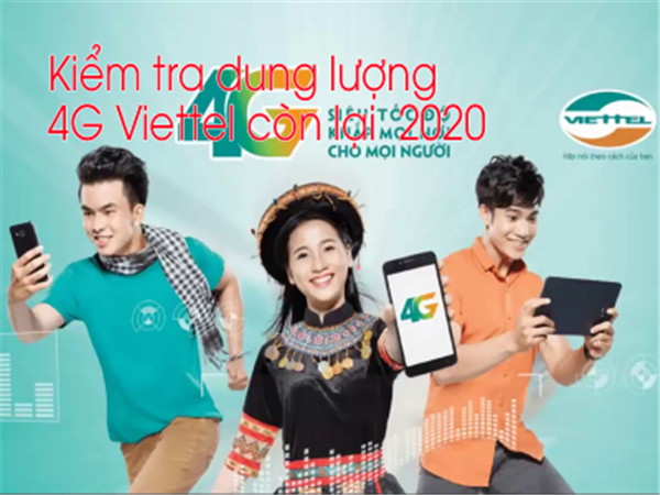 2 ways to check remaining 4G free capacity Viettel latest free 2020