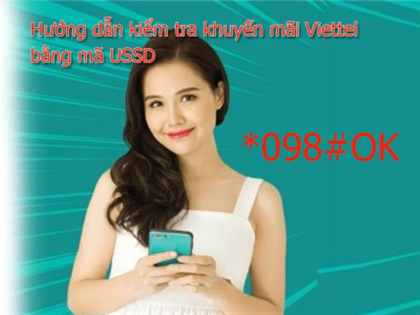 How to check promotion information via Viettel USSD *098# of Viettel