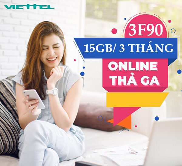 3F90 (FREE CALL + 250SMS + 15P EXTERNAL NETWORK + 5GB - 3 MONTHS)
