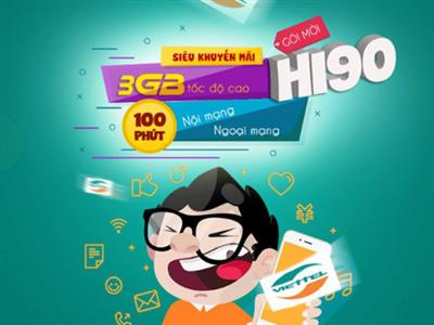 HI90 (100M + 30SMS + 100M EXTERNAL NETWORK + 3GB / MONTH)
